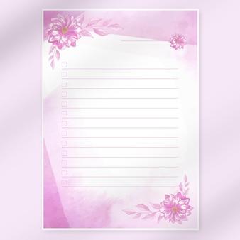 Печать списка акварельной мечты
