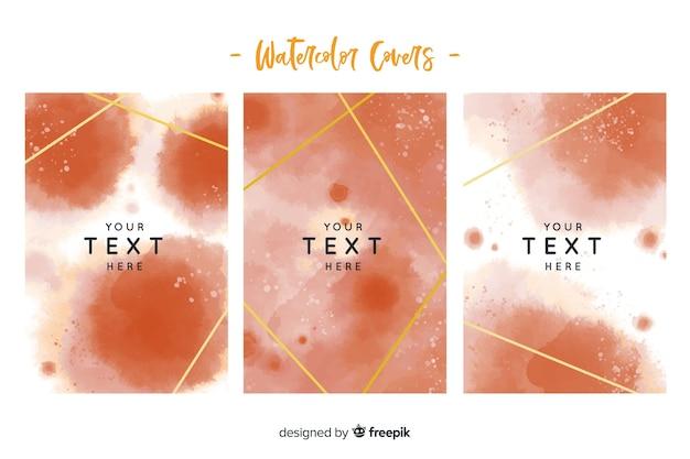 Watercolor drops card template