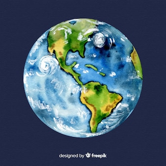Watercolor earth background
