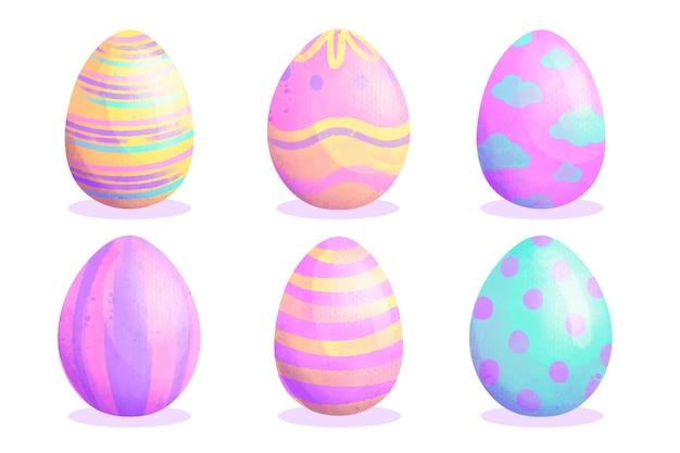水彩イースター日卵コレクション