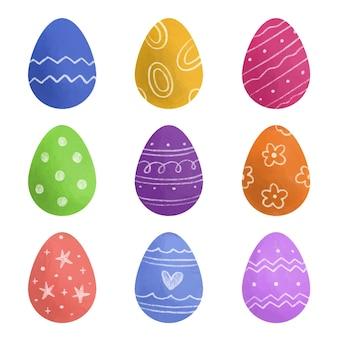Accumulazione delle uova di pasqua dell'acquerello
