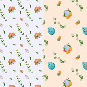 Watercolor easter eggs seamless pattern
