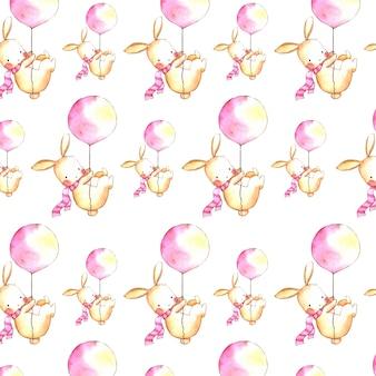 Акварельный пасхальный цветочный фон
