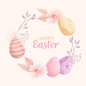 Watercolor easter illustration