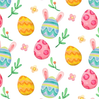 Watercolor easter pattern