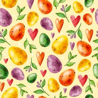 Watercolor easter pattern