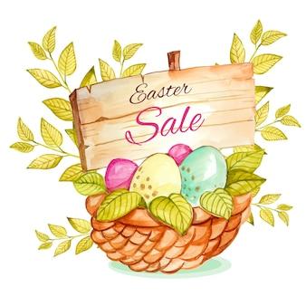 Watercolor easter sale illustration