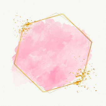 Watercolor elegant golden frame template
