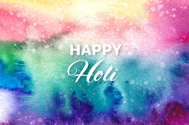 Watercolor explosion concept for holi festival