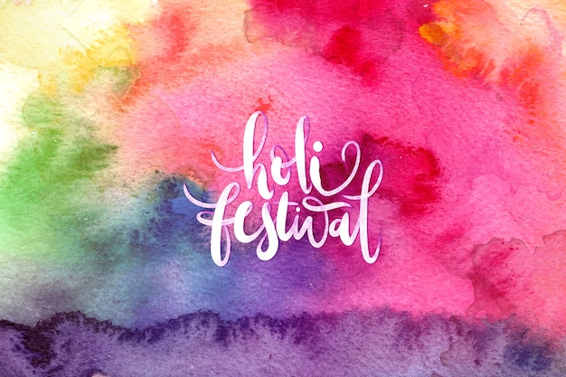 Watercolor explosion theme for holi festival