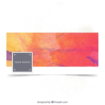 Watercolor facebook cover