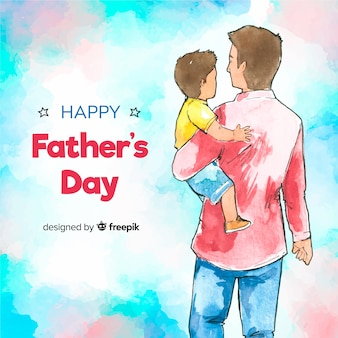 Watercolor father's day background