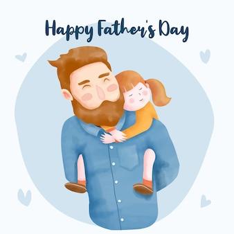 Акварель день отца иллюстрация