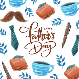 Watercolor fathers day