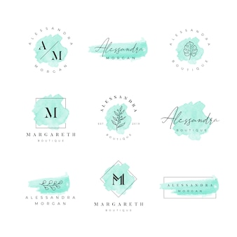 Watercolor feminine logo