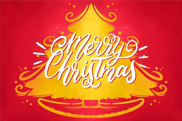 水彩お祝いクリスマスの壁紙