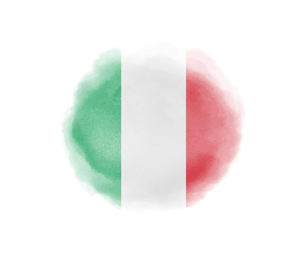 Watercolor flag of italy