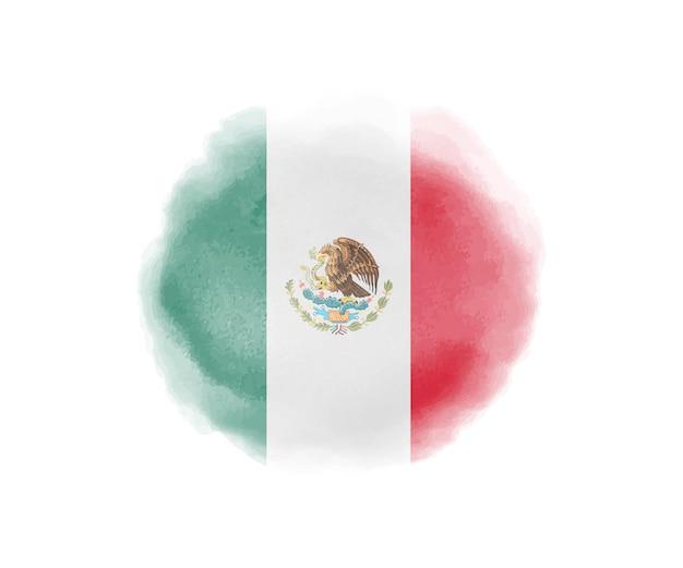 Watercolor flag of mexico Premium Vector