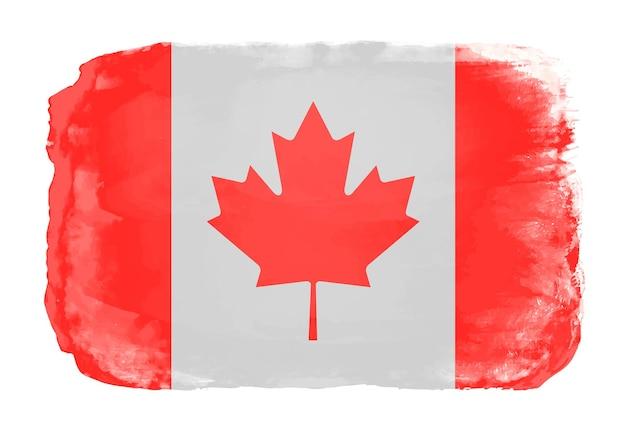カナダの水彩画の旗