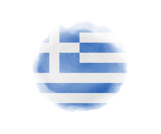 Акварель флаг греции