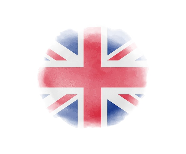 Watercolor flag of united kingdom