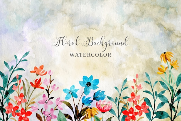 Watercolor floral abstract background