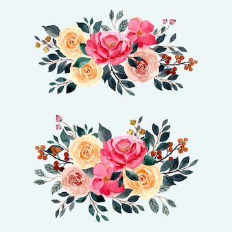 Watercolor floral arrangement decoration background