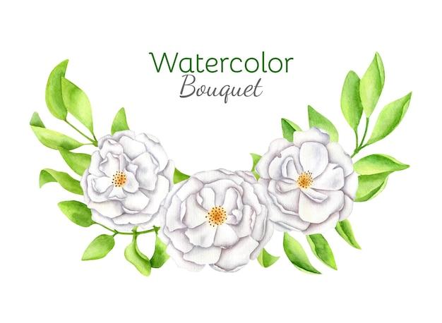 Watercolor floral arrangement illustration