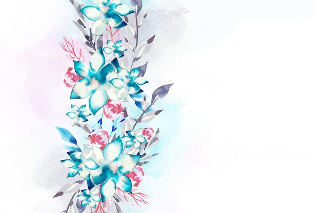 Watercolor floral background concept