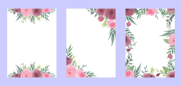 カードの水彩花の背景