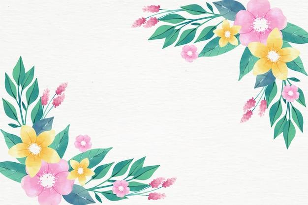 Acquerello sfondo floreale in colori pastello