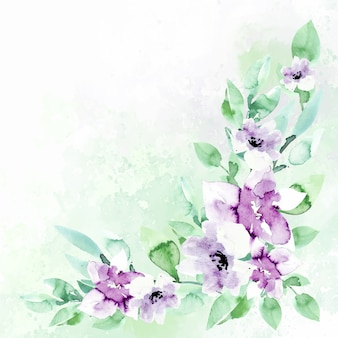 Watercolor floral background in pastel colors