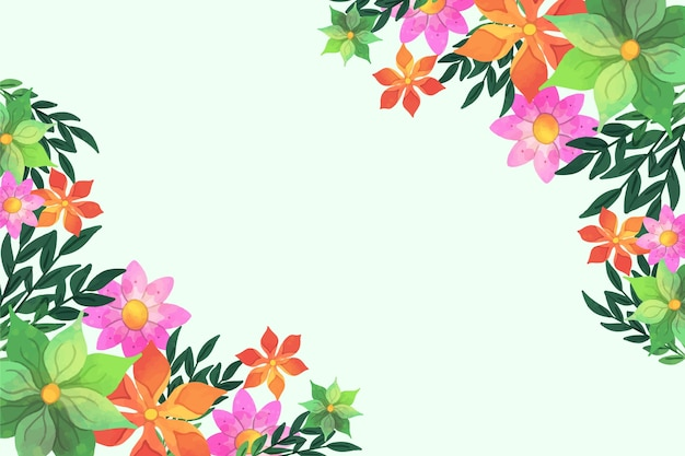 Watercolor floral background theme