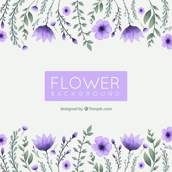 Watercolor Floral Background With Elegant Style