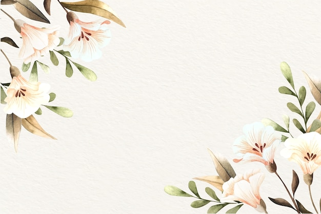 Watercolor floral background with soft colors