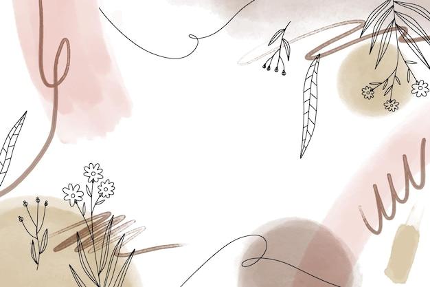 Sfondo floreale acquerello