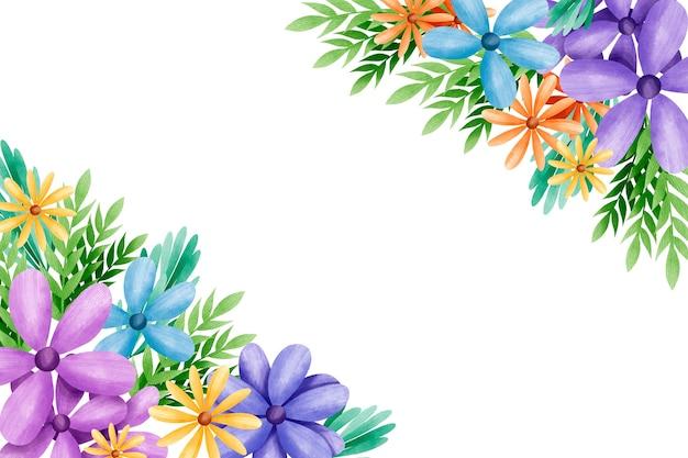 수채화 꽃 배경