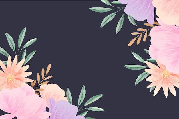 Акварель цветочный фон