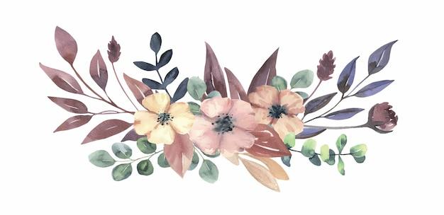 Акварельный цветочный букет