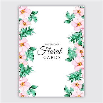Watercolor floral cards