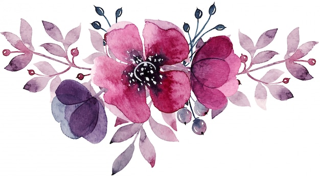 Watercolor floral decoration