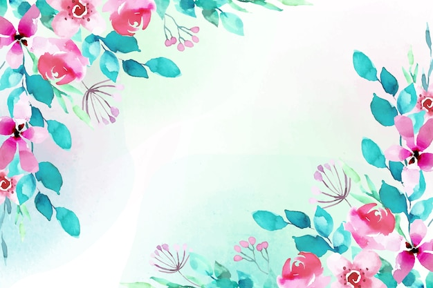 Watercolor floral design background