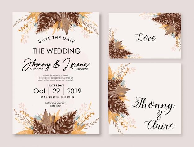 Watercolor floral design for wedding invitation and multi purpose
