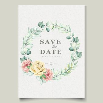 Набор акварельных цветочных элементов свадебных открыток