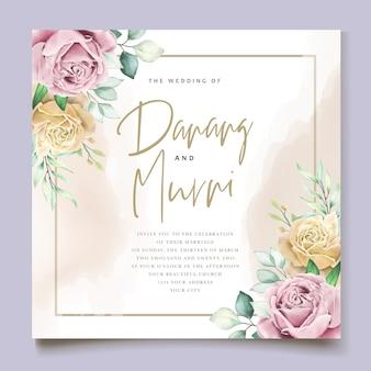 Акварельный цветочный элемент свадебный набор карт
