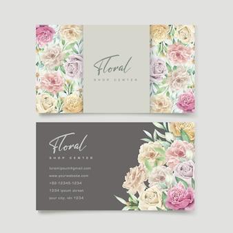 Watercolor floral element wedding card set
