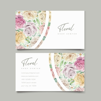 Set di carte di nozze elemento floreale dell'acquerello