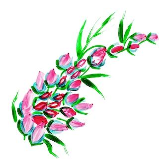 Watercolor Floral Element