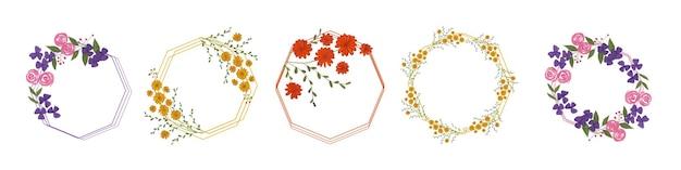 水彩花の花フレーム