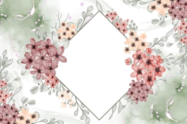 Priorità bassa della struttura floreale dell'acquerello del fiore piccolo con spazio bianco